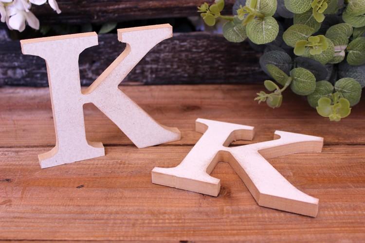 """Γράμμα Ξύλινο """"K"""" Λευκό"""