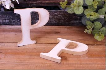 """Γράμμα Ξύλινο """"Ρ"""" Λευκό"""