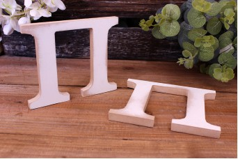 """Γράμμα Ξύλινο """"Π"""" Λευκό"""