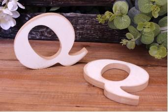 """Γράμμα Ξύλινο """"Q"""" Λευκό"""