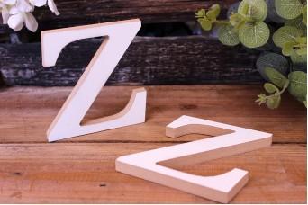 """Γράμμα Ξύλινο """"Z"""" Λευκό"""