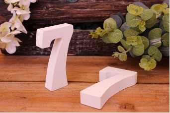 """Αριθμός Ξύλινος """"7"""" Λευκός"""
