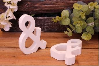 """Γράμμα Ξύλινο """"&"""" Λευκό"""