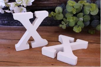 """Γράμμα Ξύλινο """"X"""" Λευκό"""