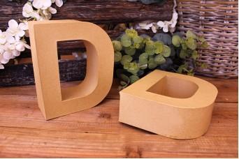"""Γράμμα """"D"""" Papier Mache"""