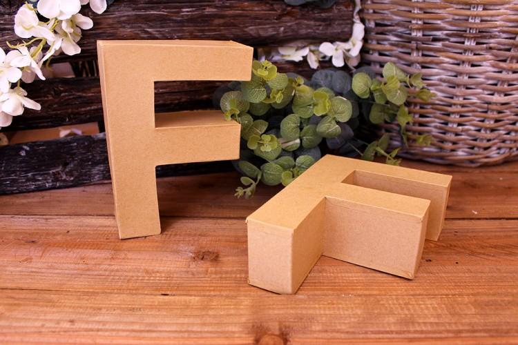"""Γράμμα """"F"""" Papier Mache"""