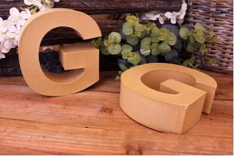 """Γράμμα """"G"""" Papier Mache"""