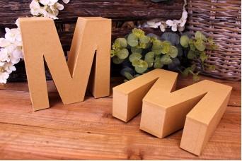 """Γράμμα """"M"""" Papier Mache"""