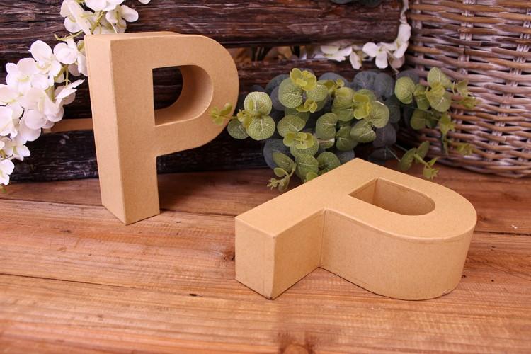 """Γράμμα """"P"""" Papier Mache"""