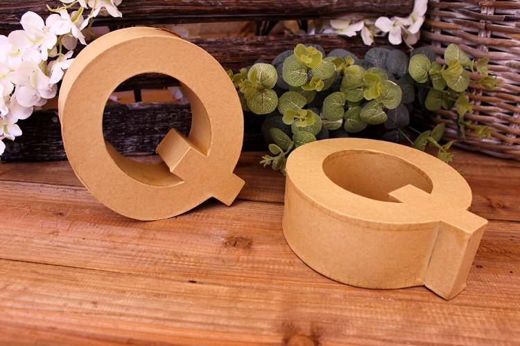 """Γράμμα """"Q"""" Papier Mache"""