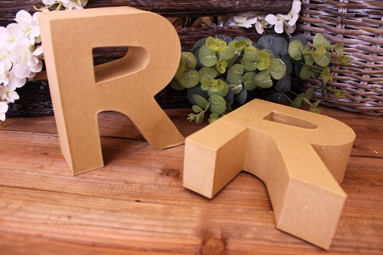 """Γράμμα """"R"""" Papier Mache"""