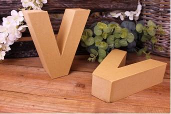 """Γράμμα """"V"""" Papier Mache"""