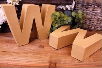 """Γράμμα """"W"""" Papier Mache"""