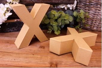 """Γράμμα """"X"""" Papier Mache"""