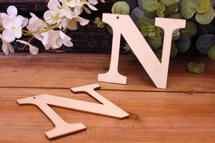 """Γράμμα Ξύλινο """"Ν"""""""