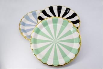 Πιάτα Χάρτινα Χρυσό Τελείωμα Μέντα 10τεμ. PI2737-2