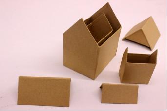 Kουτιά Σπιτάκια Papier Mache PI3027