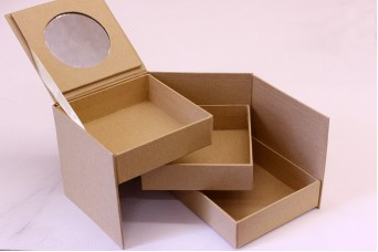 Μπιζουτιέρα Papier Mache με Καθρέφτη PI3029