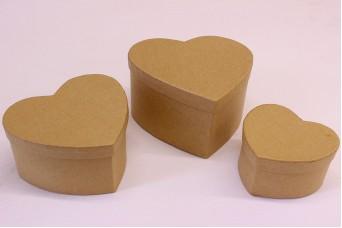 Κουτιά Καρδιές Papier Mache PI3032