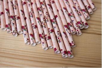 Χάρτινα Καλαμάκια Floral 1374F3