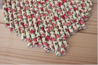 Χάρτινα Καλαμάκια Floral 1374F6