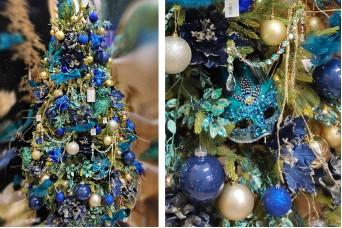 Paradise Blue Πρόταση με Στολίδια,  Δέντρο και Φωτάκια